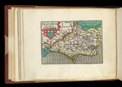 Map of Dorset, from Atlas of the British Isles, Pieter Van Den Keere